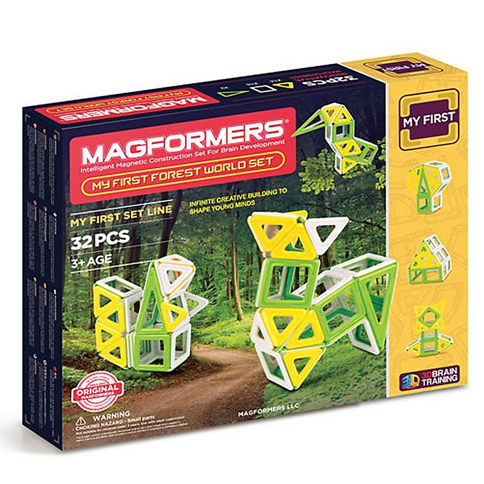 Alternate image 1 for Magformers® 32-Piece My First Forest World Building Set