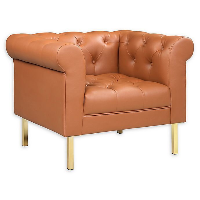 Outstanding Chic Home Mateo Faux Leather Club Chair Bed Bath Beyond Dailytribune Chair Design For Home Dailytribuneorg