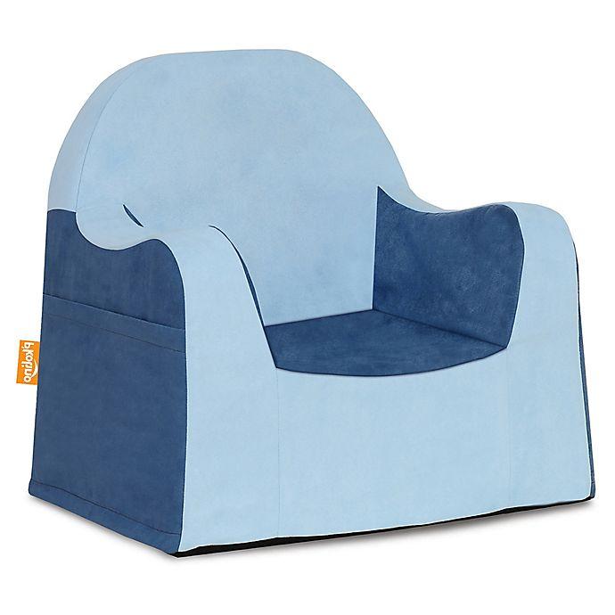 P Kolino 174 Little Reader Two Tone Chair In Light Blue Blue