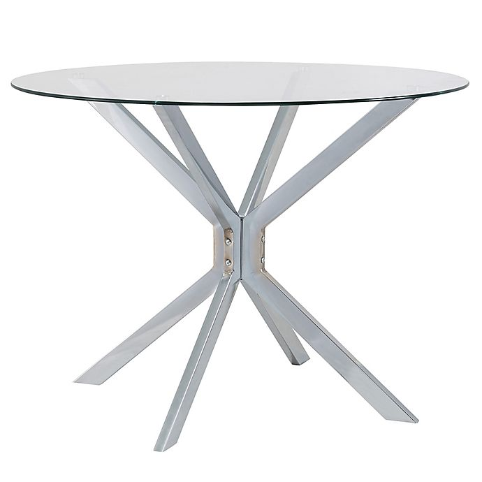 Alternate image 1 for Channing 42-Inch Glass and Chrome Round Dining Table