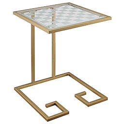 Beckett Game Table in Gold