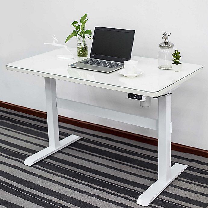 Alternate image 1 for Adjustable Height Smart Desk in White