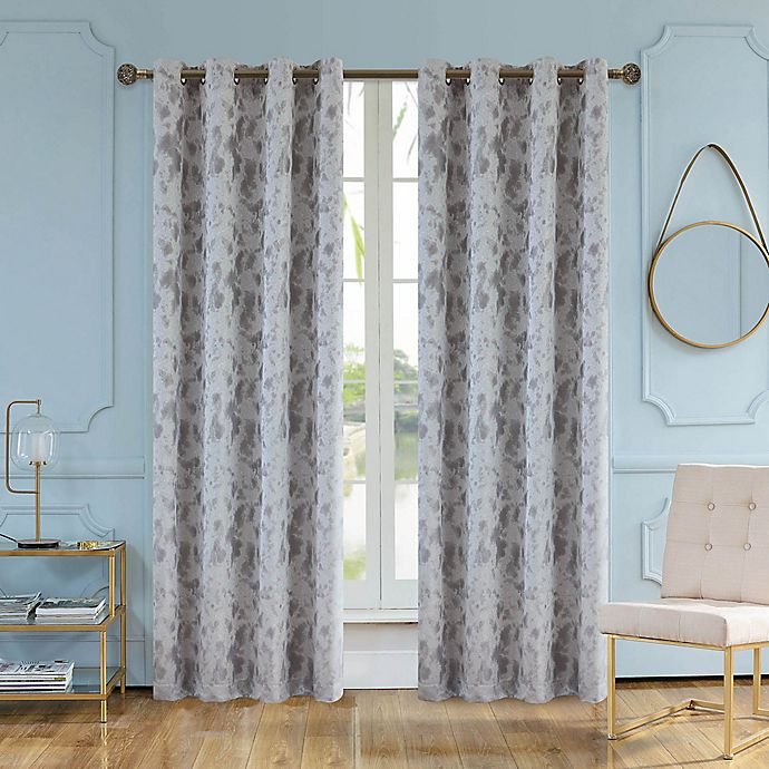 Alternate image 1 for Skye 95-Inch Grommet Window Curtain Panel in Grey