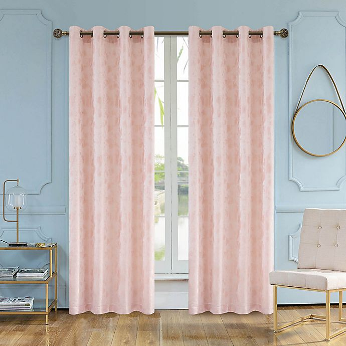 Alternate image 1 for Skye 54-Inch Grommet Window Curtain Panel in Blush