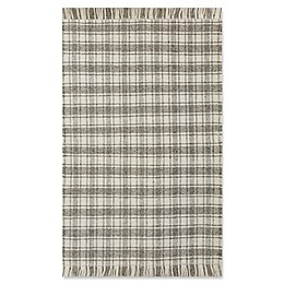 Bee & Willow™ Home Camden Plaid Rug in Grey/Ivory