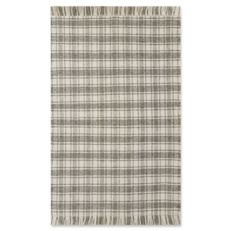 Bee Amp Willow Home Camden Plaid Rug In Grey Ivory Bed