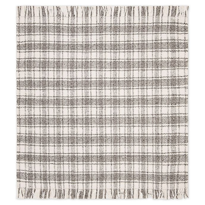 Alternate image 1 for Bee & Willow™ Home Camden Plaid 6' x 6' Square Area Rug in Grey/Ivory