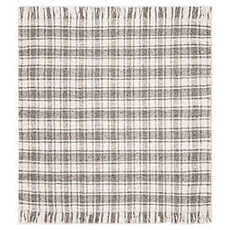 Bee & Willow™ Home Camden Plaid 6' x 6' Square Area Rug in Grey/Ivory