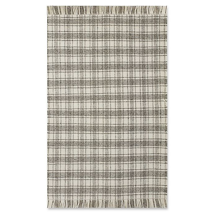 Alternate image 1 for Bee & Willow™ Home Camden Plaid 8' x 10' Area Rug in Grey/Ivory