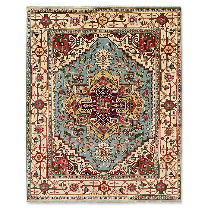 Alternate image 1 for ECARPETGALLERY One of a Kind Serapi Heritage 7'11 x 10' Hand-Knotted Rug in Aqua/Red
