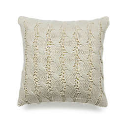 Cable Knitted Square Throw Pillow