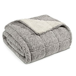 Eddie Bauer® Sumac Ridge Sherpa Throw in Grey