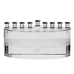 Clear Hanukkah Menorah