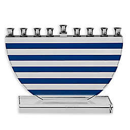 Blue Stripes Hanukkah Menorah