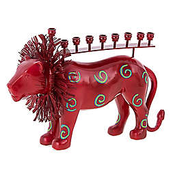 Party Animal! Lion Hanukkah Menorah
