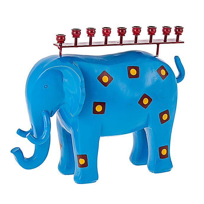 Alternate image 1 for Party Animal! Elephant Hanukkah Menorah