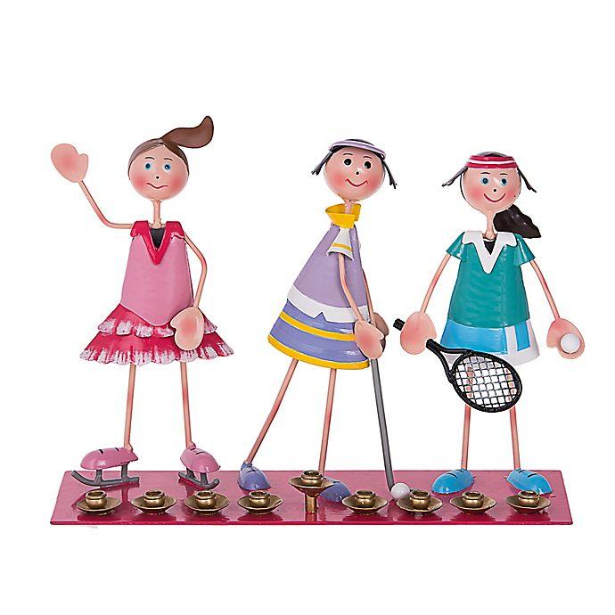 Alternate image 1 for Sporting Girls Hanukkah Menorah