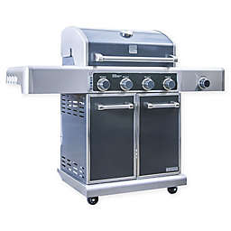 Kenmore Elite Total Cooking Surface PG-40415S0LC 4-Burner Gas Grill with Side Burner