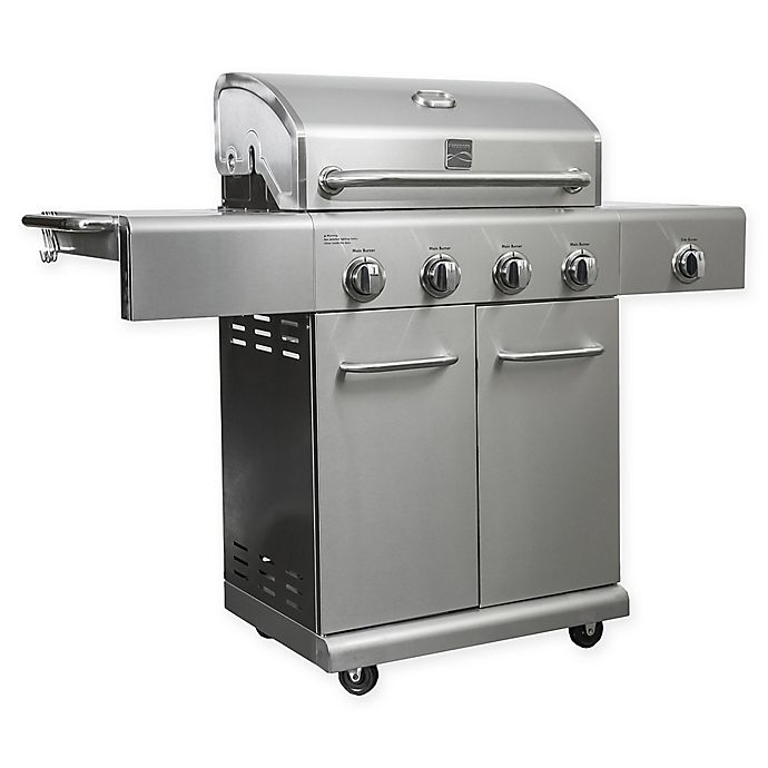 Alternate image 1 for Kenmore® PG-40405S0L 4-Burner Gas Grill in Stainless Steel