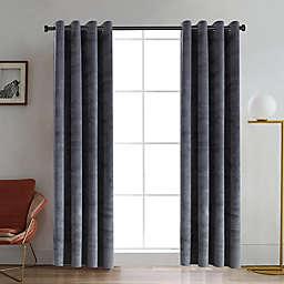 Regency 95-Inch Grommet Room Darkening Window Curtain Panel in Silver