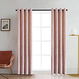 Regency 84-Inch Grommet Room Darkening Window Curtain Panel in Blush
