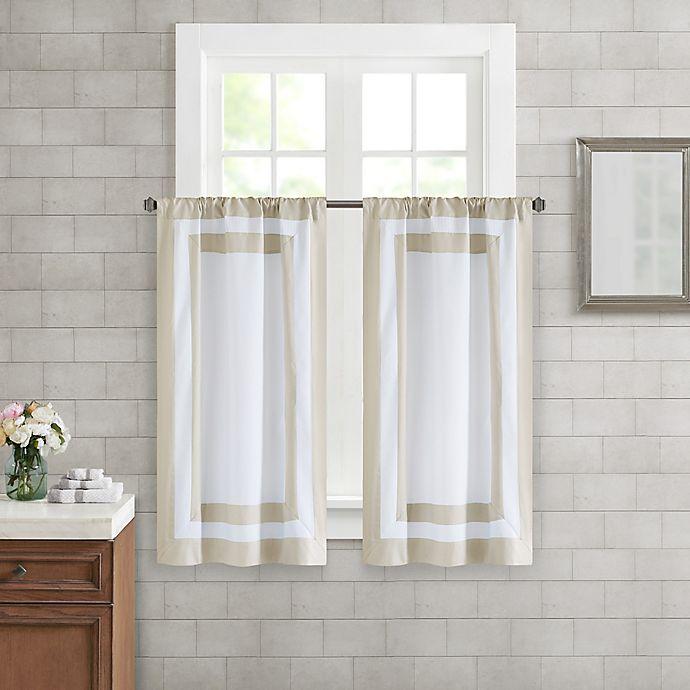 Alternate image 1 for Wamsutta® Merill Window Panel Pair in Taupe