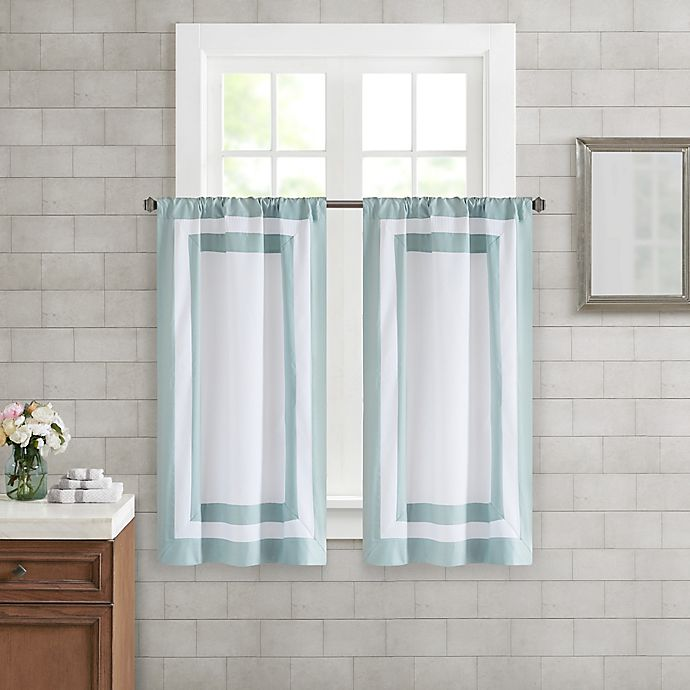 Alternate image 1 for Wamsutta® Merill Window Panel Pair in Aqua