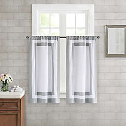 Wamsutta® Hotel Border Window Panel Pair in Grey