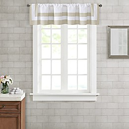 Wamsutta® Hotel Border Window Valence in Taupe