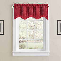 J. Queen New York™ Constantine Rod Pocket Window Valance in Red