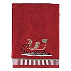 Vintage Santa Bath Towel in Red