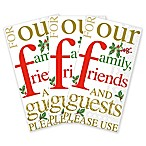 Family, Friends, and Guests Christmas 32-Count Paper Guest Towels
