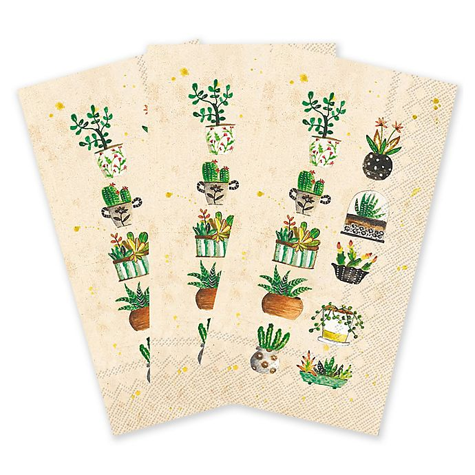 Paper Guest Towels Bathroom: Succulents 16-Count Paper Guest Towels