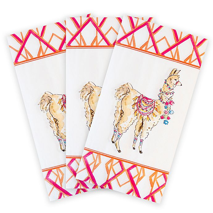 Paper Guest Towels Bathroom: Bright Llama 16-Count Paper Guest Towels