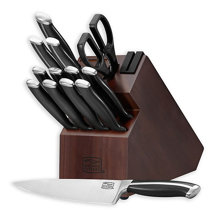 Alternate image 1 for Chicago Cutlery® 14-Piece Knife Block Set in Black