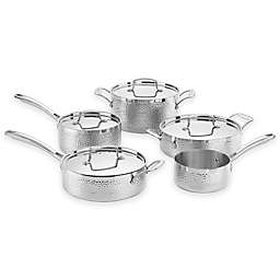 Cuisinart® Hammered Tri-Ply Stainless Steel 9-Piece Cookware Set