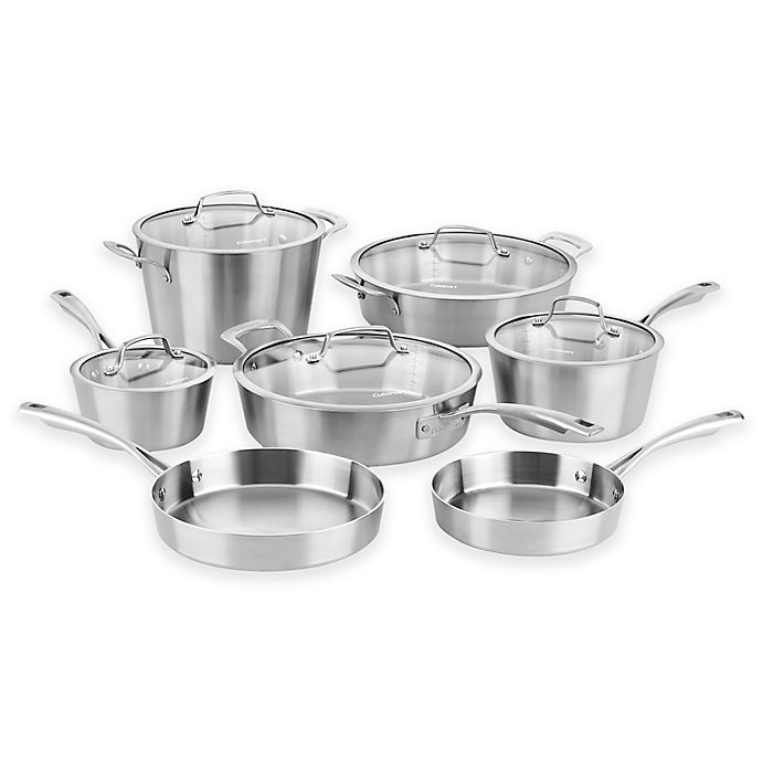 Alternate image 1 for Cuisinart® Multi-Clad Conical Tri-Ply Stainless Steel 12-Piece Cookware Set