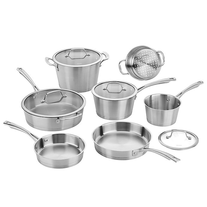 Cuisinart® Conical Brushed Stainless Steel 11-Piece Cookware ...