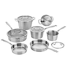 Cuisinart® Conical Brushed Stainless Steel 11-Piece Cookware Set