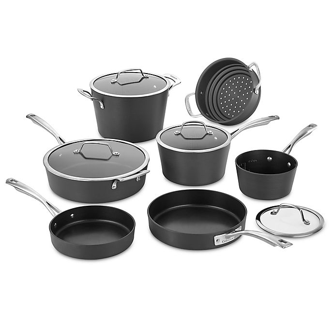 Alternate image 1 for Cuisinart® Conical Hard Anodized Aluminum 11-Piece Cookware Set