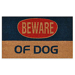 "Calloway Mills Dog Warning 17"" x 29"" Coir Door Mat"