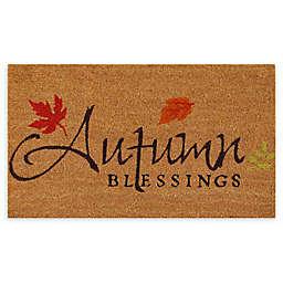 "Calloway Mills Autumn Blessings 17"" x 29"" Multicolor Coir Door Mat"