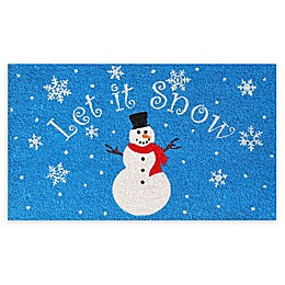 "Calloway Mills Let It Snow 17"" x 29"" Coir Door Mat"
