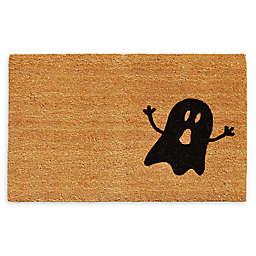 """Calloway Mills Ghost 17 x 29"""" Coir Door Mat in Natural/Black"""