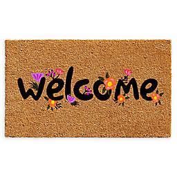 """Calloway Mills Spring Welcome 17"""" x 29"""" Coir Door Mat"""