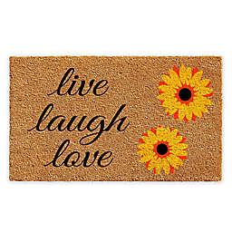 """Calloway Mills Sunflower Live Laugh Love 24"""" x 36"""" Coir Door Mat"""
