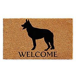 """DOOR MATS 18/"""" X 30/"""" WELCOME MAT /""""WIPE YOUR PAWS/"""" DOG BONE COIR DOORMAT"""