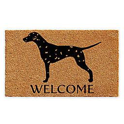 "Calloway Mills Dalmatian Welcome 17"" x 29"" Coir Door Mat in Natural/Black"