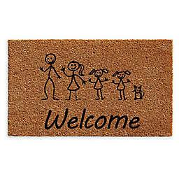 "Calloway Mills 2 Daughters Cat Stick Family 18"" x 30"" Coir Door Mat"