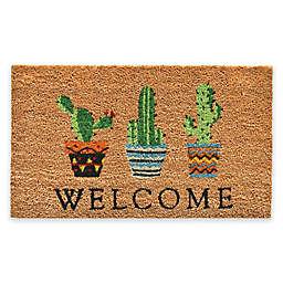 """Calloway Mills Cactus Welcome 17"""" x 29"""" Multicolor Coir Door Mat"""